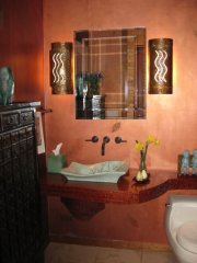 Asian powder room