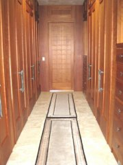 Master closet 8 foot cherry door