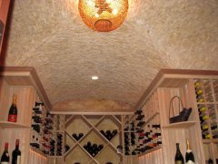 Cove barrel stone ceiling