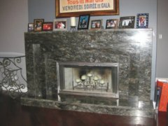 Fireplace Granite 3 Tier Surround After