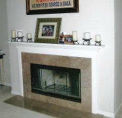 Fireplace Granite Before