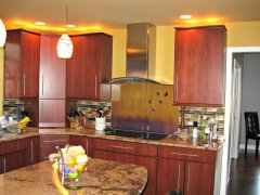 Kitchen Back Splash and Cook Top After
